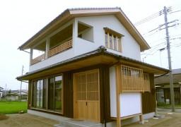 倉敷格子のある家