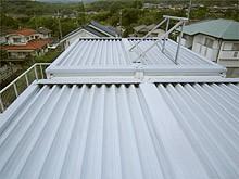 陸屋根を寄棟屋根にリフォーム